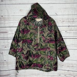Marni Pullover Leaf Design Loose Fit Hoodie Sz 42!